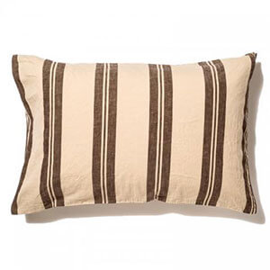 THE STRIPES Pillow Case / Stripe BROWN